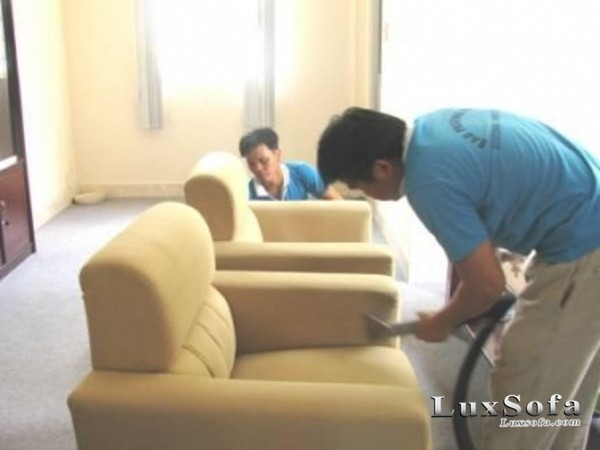 cách làm sạch sofa nỉ
